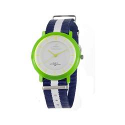 UNISILVER TIME UNISEX ZANITY-ZILCH ANALOG NYLON NAVY BLUE/WHITE/YELLOW GREEN KW2160-2143 WATCH image here