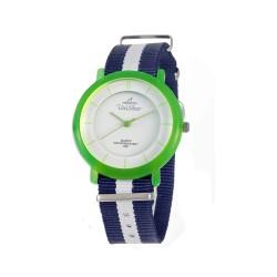 UNISILVER TIME UNISEX ZANITY-ZILCH ANALOG NYLON NAVY BLUE/WHITE/BRIGHT GREEN KW2160-2185 WATCH image here
