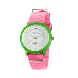 UNISILVER TIME UNISEX ZANITY-ZILCH ANALOG NYLON PINK / BRIGHT GREENKW2160-2189 WATCH image here