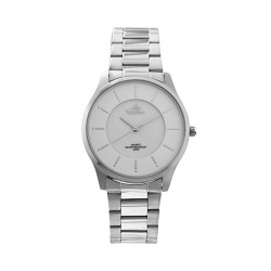 UNISILVER TIME MEN'S TRAVELLO PAIR ANALOG STAINLESS STEEL SILVER / WHITE MOTHER-OF-PEARL KW2164-1101 image here