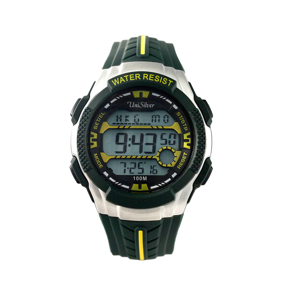 UNISILVER TIME DARREN ESPANTO'S DYMO-BEATZ DIGITAL RUBBER DARK GREEN / YELLOW KW2247-1002 image here