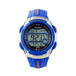 UNISILVER TIME JUAN KARLOS LABAJO'S DYMO-BEATZ DIGITAL RUBBER BLUE / ORANGE KW2248-1001 image here