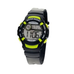 UNISILVER TIME CHILDREN'S POP-TOP  DIGITAL BLACK / YELLOW GREEN KW2263-2004 image here