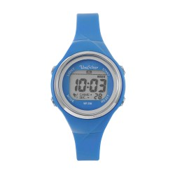 UNISILVER TIME LADIES' XYLPHIA DIGITAL RUBBER LIGHT BLUE KW2229-2101 WATCH image here