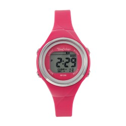 UNISILVER TIME LADIES' XYLPHIA DIGITAL RUBBER FUCHSIA KW2229-2102 WATCH image here