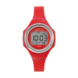 UNISILVER TIME LADIES' XYLPHIA DIGITAL RUBBER RED KW2229-2103 WATCH image here