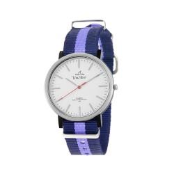 UNISILVER TIME UNISEX ARRAY ANALOG NYLON NAVY BLUE/WHITE/LAVENDER KW2159-1128 WATCH image here