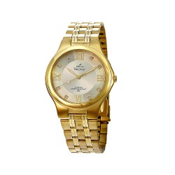 UNISILVER TIME MEN'S GLITZEN PAIR ANALOG STAINLESS STEEL GOLD KW443-1206 WATCH image here