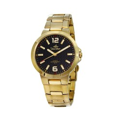 UNISILVER TIME ISTESSO MEN'S ANALOG STAINLESS STEEL GOLD / BLACK KW997-1205 WATCH image here