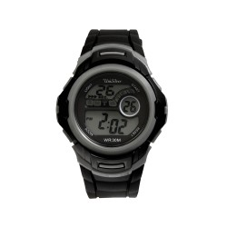 UNISILVER TIME MEN'S NUCLEON DIGITAL RUBBER BLACK / GRAY KW2208-1001 WATCH image here