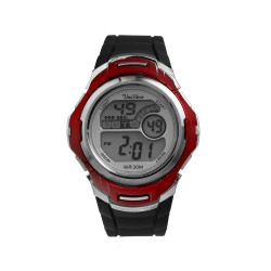 UNISILVER TIME MEN'S NUCLEON DIGITAL RUBBER BLACK / RED KW2208-1005 WATCH image here