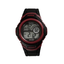 UNISILVER TIME MEN'S NUCLEON DIGITAL RUBBER BLACK / RED VIOLET KW2208-1007 WATCH image here
