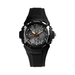 UNISILVER TIME MEN'S BUCKY ANALOG-DIGITAL RUBBER BLACK / SILVER KW2219-1005 WATCH image here