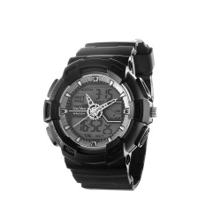 "UNISILVER TIME UNISEX ""DEERE"" ANALOG-DIGITAL RUBBER BLACK / GRAY KW1945-1002 WATCH image here"