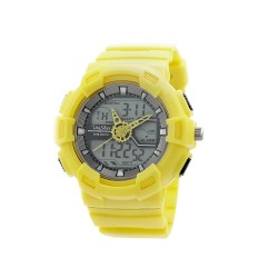 "UNISILVER TIME UNISEX ""DEERE"" ANALOG-DIGITAL RUBBER YELLOW / GRAY KW1945-1006  WATCH image here"