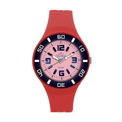 UniSilver TIME Zesty Women's Red / Navy Blue / Pink Analog Rubber Watch KW1543-2006 image here