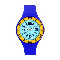 UniSilver TIME Zesty Women's Blue / Yellow / Light Blue Analog Rubber Watch KW1543-2007 image here