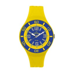 UniSilver TIME Women's Yellow / Blue Analog Rubber Watch KW1543-2101 image here