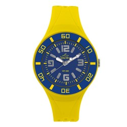 UniSilver TIME Zesty Women's Yellow / Light Blue Analog Rubber Watch KW2189-2101 image here