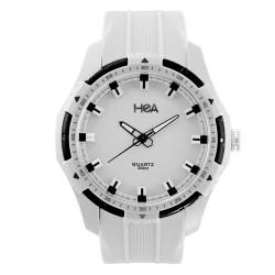 Hea Ledd Unisex White/Black Rubber Watch Kha1839-1001   image here