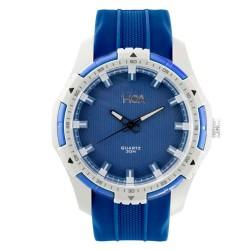 Hea Ledd Unisex Blue/White Rubber Watch Kha1839-1002 image here