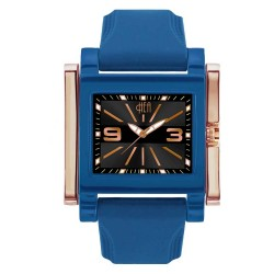 Hea Atzmus Unisex Blue/Rose Gold Rubber Watch Kha1577-1104 image here