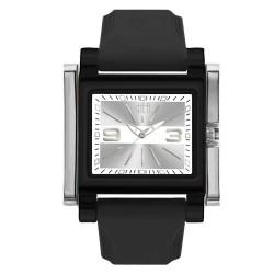 Hea Atzmus Unisex Black/White Rubber Watch Kha1577-1105 image here