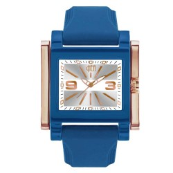 Hea Atzmus Unisex Blue/Rose Gold Rubber Watch Kha1577-1111 image here