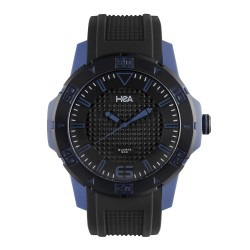Hea Chex Unisex Black/Blue Rubber Watch Kha1872-1002 image here