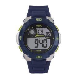 Hea Benjo Leoncio's Dasslr Unisex Navy Blue Rubber Watch Kha1901-1003 image here