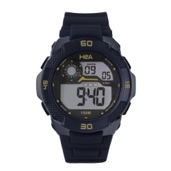 Hea Martin Escudero' Dasslr Unisex Black Rubber Watch Kha1901-1004 image here