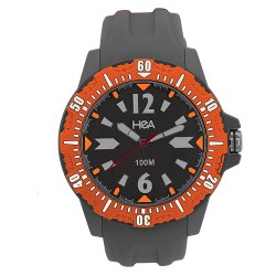 Hea Drift Unisex Grey/Orange Rubber Watch Kha1904-1003   image here