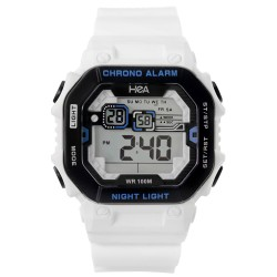 Hea Armond Bernas' Signature Watch White/Black Rubber Watch Kha2075-1001 image here