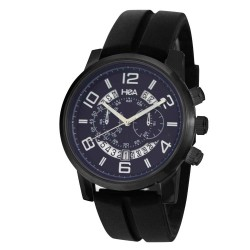 Hea Mirage Unisex Black/Blue Rubber Watch Kha2108-1102 image here
