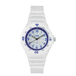 Hea U&Mi Women's White/Blue Rubber Watch Kha2222-2101 image here