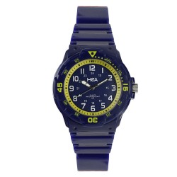 Hea U&Mi Women's Blue/Yellow Rubber Watch Kha2222-2105 image here