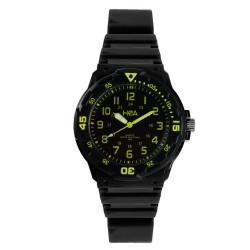 Hea U&Mi Women's Black/Yellow Rubber Watch Kha2222-2106 image here