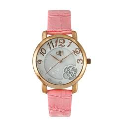 Hea Florra Women's Pink Leather Watch Kha1858-2004 image here