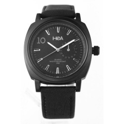 HEA AIZA SEGUERRA'S PIAZZA UNISEX BLACK LEATHER WATCH KHA2307-1003   image here