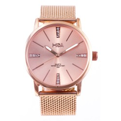 HEA LIZA DIÑO-SEGUERRA'S METALLIQUE WOMEN'S ROSE GOLD METAL WATCH KHA2309-1102   image here
