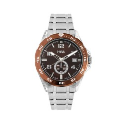 HEA INOX MEN'S BROWN STAINLESS STEEL WATCH KHA2070-1110  image here