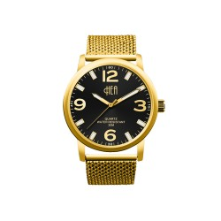 HEA METALLIQUE SERIES 3 WOMEN'S GOLD/BLACK METAL WATCH KHA1612-1106   image here