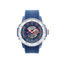 HEA ECLECTOR UNISEX BLUE/ORANGE RUBBER WATCH KHA1816-1002   image here