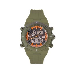 HEA MIGGY SAN PABLO'S CYCLONE UNISEX GREEN/ORANGE RUBBER WATCH KHA1946-1007  image here