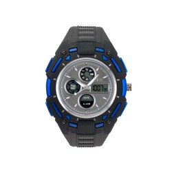 HEA TURBO UNISEX BLACK/BLUE RUBBER WATCH KHA1833-1003   image here