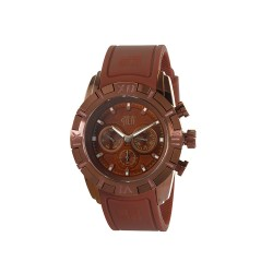 HEA ANACHROS UNISEX BROWN RUBBER STRAP WATCH KHA1792-1102  image here