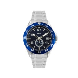 HEA INOX MEN'S BLUE STAINLESS STEEL WATCH KHA2070-1103   image here