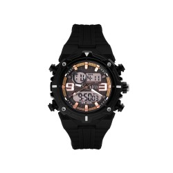 HEA ARMOND BERNAS' CYCLONE UNISEX BLACK/BRONZE RUBBER WATCH KHA1946-1005 image here