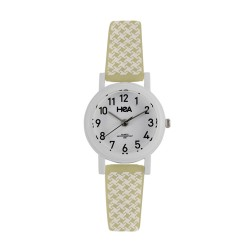 HEA FRUTI PATTERN WOMEN'S YELLOW/WHITE PLASTIC WATCH KHA2432-2104   image here