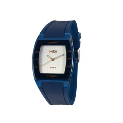 HEA SQUIRCLE UNISEX BLUE RUBBER WATCH KHA2372-1411   image here